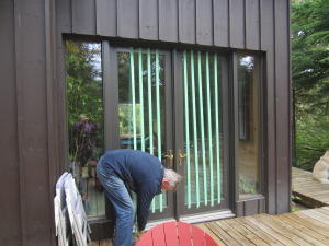 Alan finishing the large doors