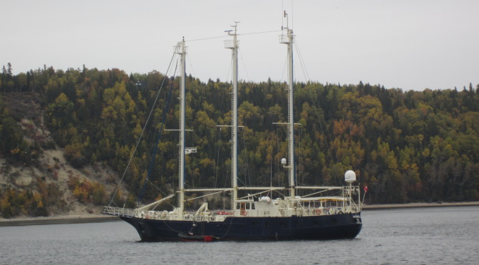 Sedna 4 in Tadoussac Bay October 4th