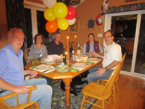 A lovely dins to celebrate Susie