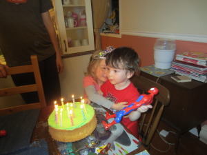 Eddie's 2nd birthday - the cake was 'Hulk' green and Spiderman was the hero of the day.