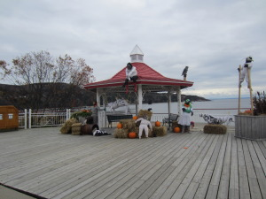 the gazebo just in front of hte Gibard