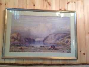 "This is the painting by C. J. Way, dated 1865.  It is called ""Calm on the Saguenay."""