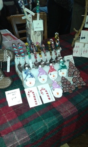 Remember Fimo? Some very cute decorations for the tree and some darling Christmas earrings