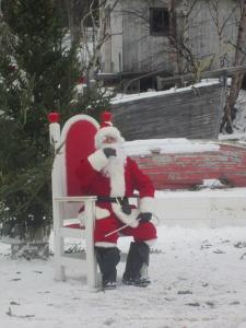 Santa waiting for secrets