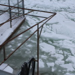 ice where the ramp is usually placed to enter docks area