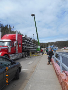 The truckload of docks from Chicoutimi