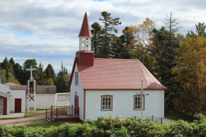 Ilets Jérémie replica of Indian Chapelle in Tadoussac