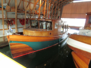 One of the restored boats All done by volunteers. This is what we need to do in our Tad museum