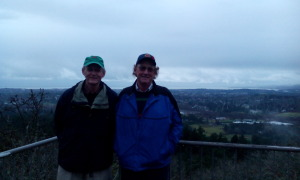 Alan and Bill at the top of the mountain waiting on me!!