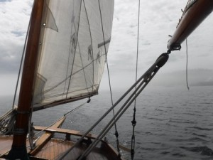 Looking aft on our first sail